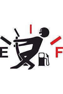 Yakıt Göstergesi Depo Kapağı Sticker