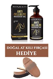 Selülit Önleyici – Sıkılaştırıcı & Bölgesel Zayıflama 200 ml Ve Doğal At Kılı Fırçası Hediye