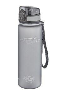 3026 - 500 ml Gri Tritan Kırılmaz Matara/suluk