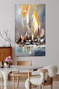 Soft Soyut Yelkenli Kanvas Tablo 60x90 cm
