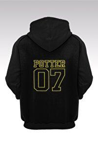 Harry Potter Gryffindor 56 Siyah Kapşonlu Sweatshirt - Hoodie