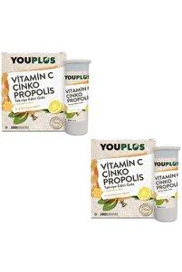Vitamin C, Çinko, Propolis Efervesan Tablet Takviye Edici Gıda 2 Adet