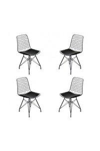 Tel Sandalye 4'lü Set