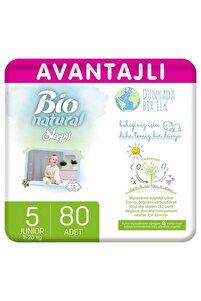 Bio Natural Avantajlı Bebek Bezi 5 Numara Junior 80 Adet