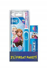 Çocuklar Için Frozen Şarjlı Diş Fırçası Diş Macunu 75 ml