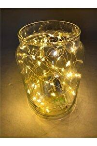 Peri Led Lamba 5 Metre Sarı Işıklı Pilli 25 Adet Mandal Hediyeli