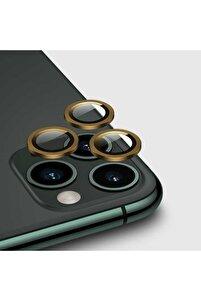 Iphone 12 Pro Max Kamera Lens Koruyucu Gold