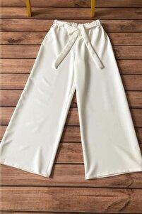 Kadın Belden Lastikli Ve Kuşaklı Bol Pantolon