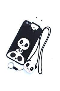 Iphone 6 Plus-6s Plus Uyumlu Kılıf Panda Pop Soketli Ip Askılı Silikon Kapak