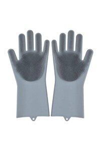 Magic Gloves Sihirli Bulaşık Eldiveni Mutfak Banyo Temizleme Fırçası Oto Ev Iş