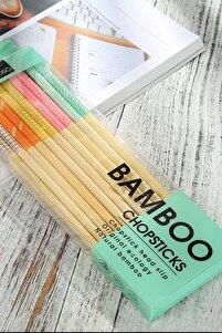 Bambu Renkli Chopstick Seti 10lu