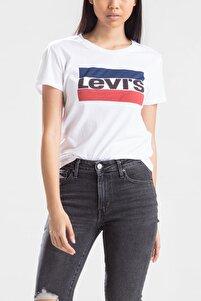 Kadın Beyaz T-shirt 17369-0297