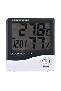 Dijital Sıcaklık Nem Ölçer Masa Saati Ve Isı Termometre