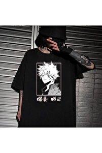 Anime My Hero Academia Bakugou Unisex Tişört