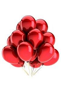 12 Inç Metalik Kırmızı Balon 10'lu