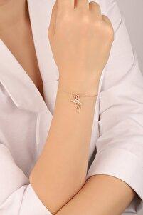 Kadın Rose Tinkerbell Su Perisi 925 Ayar Gümüş Bileklik