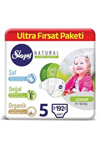 Natural Bebek Bezi 5 Numara Junior Ultra Fırsat Paketi 192 Adet