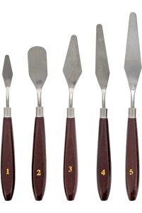 Metal Spatula 5`li Set (Painting Knife)