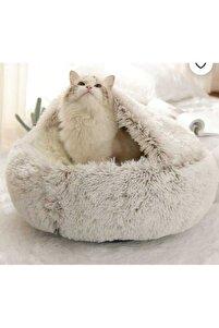 Yeni Stil Pet Kedi Köpek Yuvarlak Yatak Peluş Kedi Sıcak Yatak Tüylü Kedi Köpek Evi
