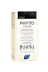 Color 3 - Koyu Kestane (Bitkisel Saç Boyası) -