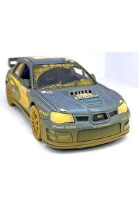 Subaru Impreza Wrc 2007 (çamurlu) - Çek Bırak 5inch. Lisanslı Model Araba, Oyuncak Araba 1:36