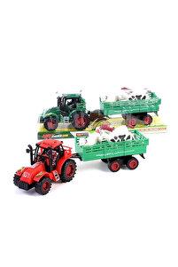 Oyuncak Traktör Vakumlu Hayvan Taşıyan