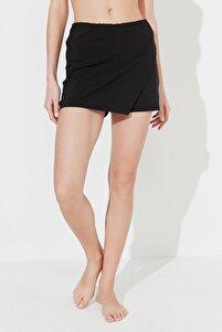 Siyah Skirt Deniz Şortu