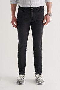 Erkek Siyah Slim Fit Jean Pantolon A11y3554
