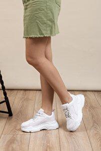 Beyaz Cilt Kadın  Sneaker BLS-Q-1
