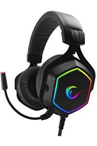 Rm-k50 Select Siyah Çıkarılabilir Mikrofonlu Usb 7.1 Rgb Işıklı Gaming Oyuncu Kulaklık