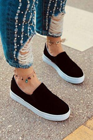 LAMİNTA Lenora Siyah Süet Kadın Sneaker