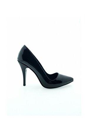 Aymood Kadın Siyah Düz Kova Topuklu Ayakkabı 750