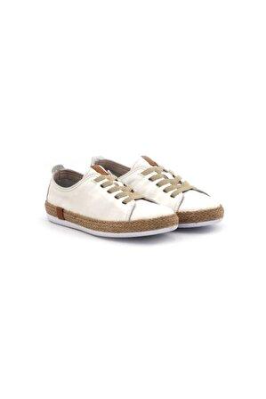 Step By Step Kadın Altın Simli Günlük Ayakkabı