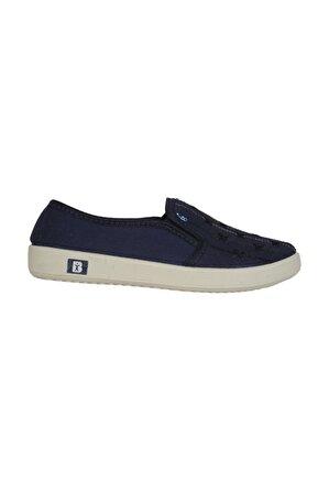 Almira 2000 Lacivert Keten Yazlık Günlük Kadın Babet Ayakkabı