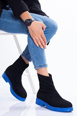 Ayakkabı Frekansı Laura Bot Siyah Mavi