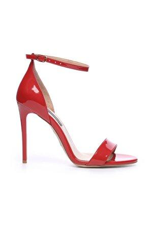KEMAL TANCA Hakiki Deri Kırmızı Kadın İnce Topuklu Ayakkabı