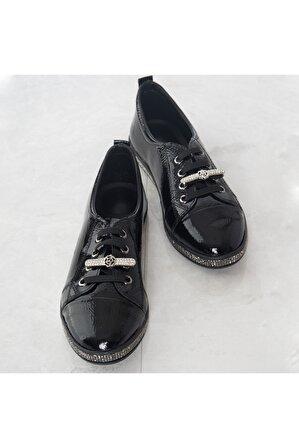 LuviShoes Siyah Rugan Spor Ayakkabı