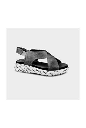 Ceyo 1064 (36-40) Siyah Ortopedik Kadın Sandalet