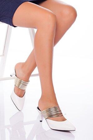 Ayakkabı Frekansı Beyaz Alegra Topuklu Ayakkabı