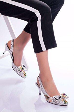 Ayakkabı Frekansı Hera Topuklu Ayakkabı BEYAZ