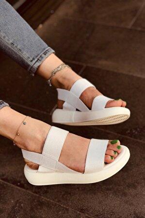 LAMİNTA Kety Beyaz Kadın Sandalet