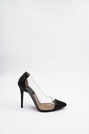 ByErz Kadın Siyah Rugan Ayakkabı