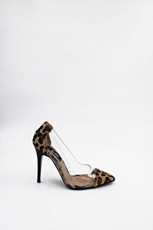 ByErz Kadın Leopar Ayakkabı