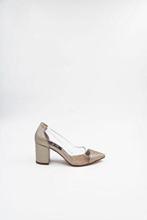 ByErz Kadın Altın Ayakkabı