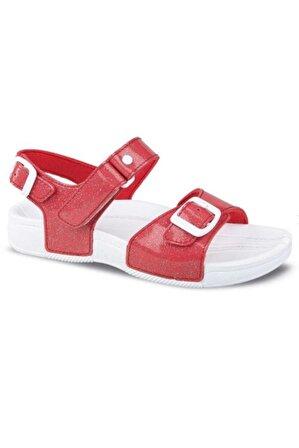 Ceyo Kız Çocuk Kırmızı Sandalet 9957-6