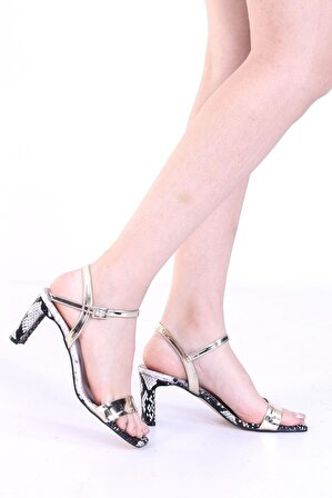 ByErz Kadın Tek Bant Topuklu Sandalet