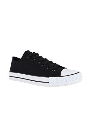 MYZENNE SHOES Unisex Myzenne Siyah Converse Ayakkabı