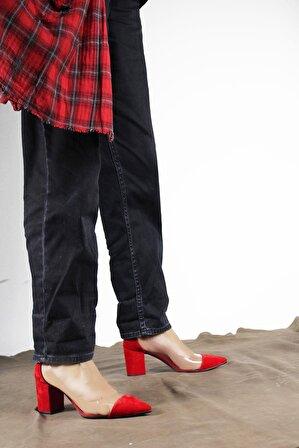 ByErz Kadın Kırmızı Ayakkabı