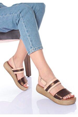 LAYRA AYAKKABI Kadın Kahverengi Düz Sandalet
