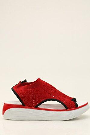 S1441 Kırmızı Kadın Sandalet